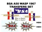 BSA A50 Transfer Decal Sets